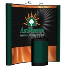 8' Curved Graphic w/Fabric End Panels Pop-Up